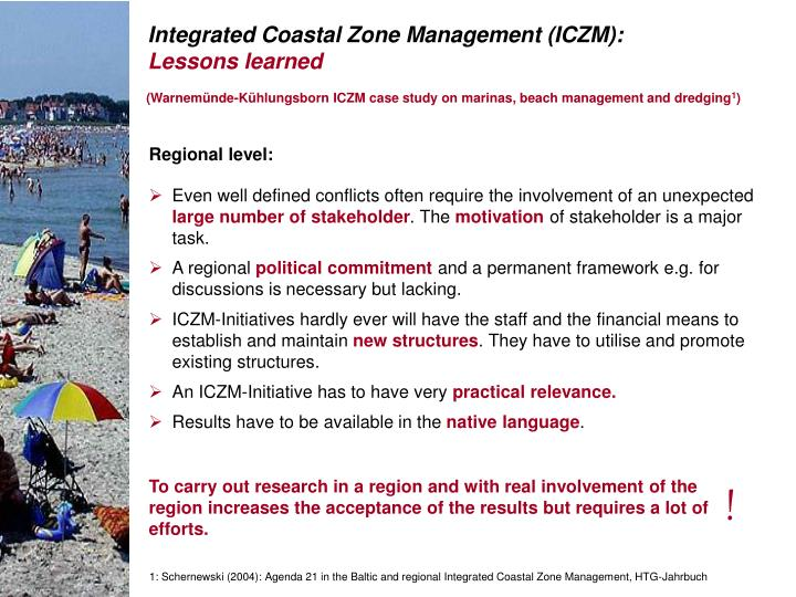 (Warnemünde-Kühlungsborn ICZM case study on marinas, beach management and dredging