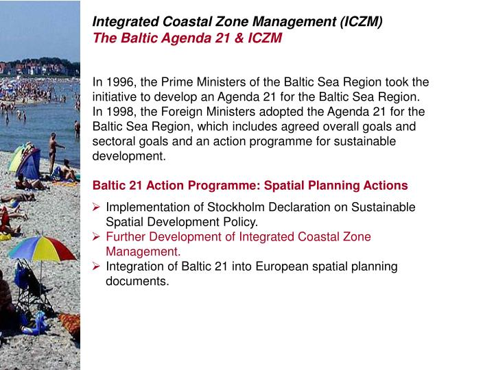 Integrated Coastal Zone Management (ICZM)