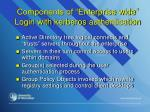 components of enterprise wide login with kerberos authentication
