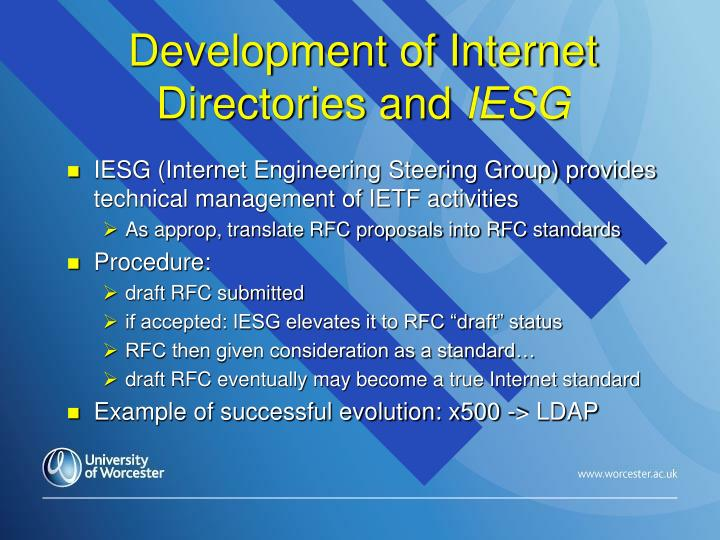 Development of Internet Directories and