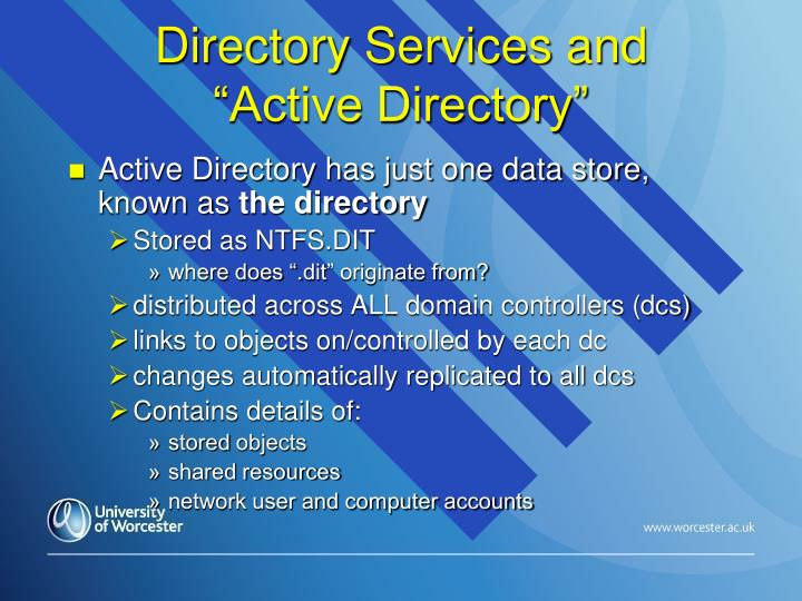Directory Services and