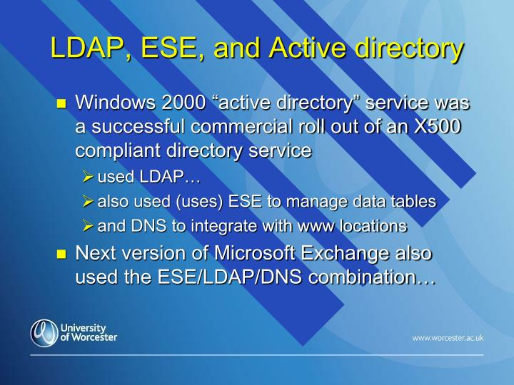 LDAP, ESE, and Active directory
