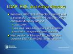 ldap ese and active directory