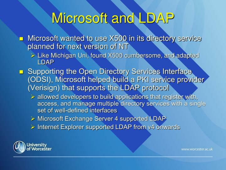 Microsoft and LDAP