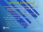 network directories