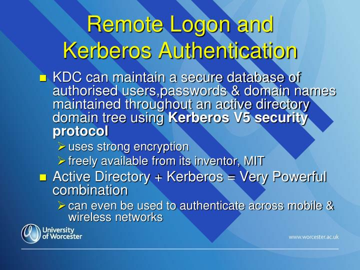 Remote Logon and
