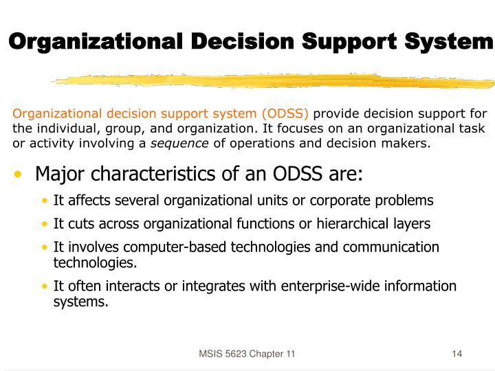 Organizational Decision Support System