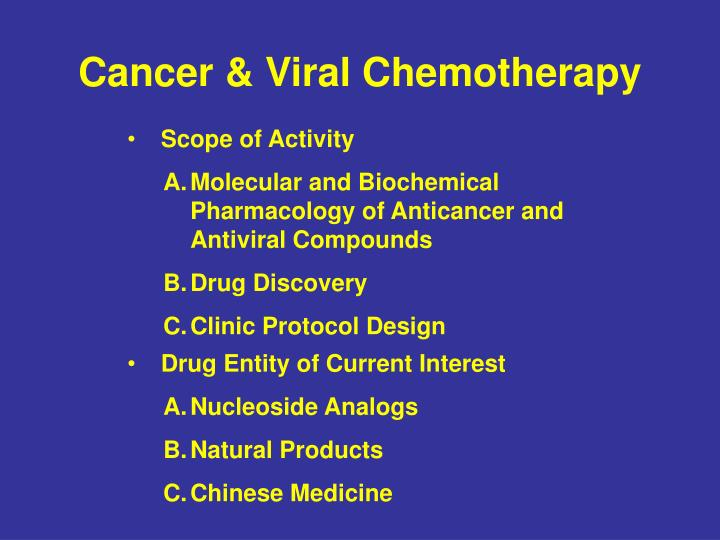 Cancer & Viral Chemotherapy