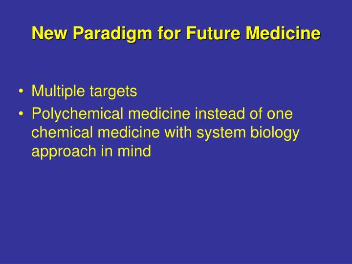 New Paradigm for Future Medicine