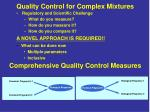 quality control for complex mixtures