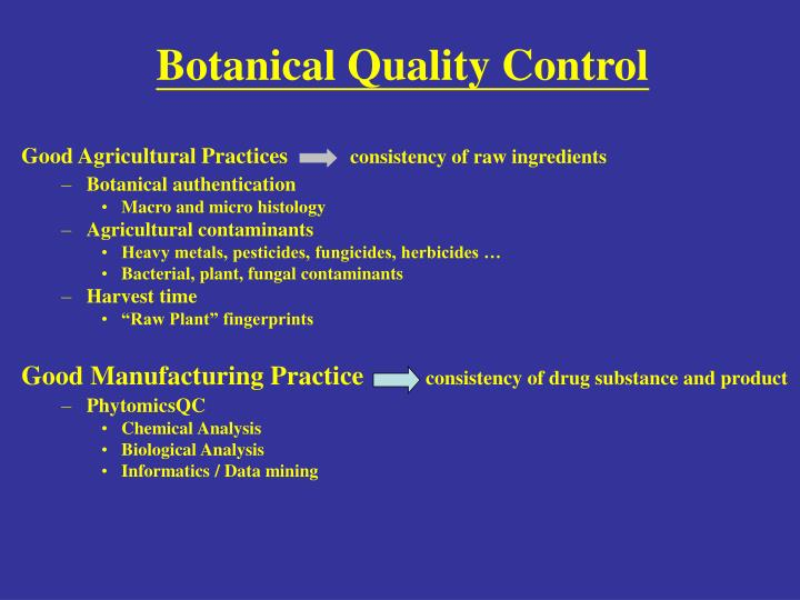 Botanical Quality Control