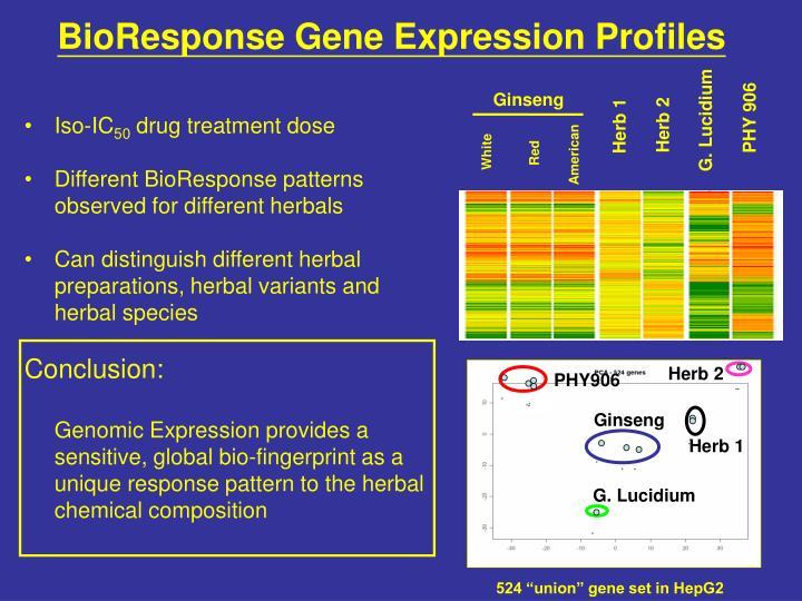 BioResponse Gene Expression Profiles