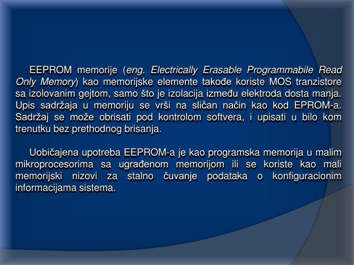 EEPROM memorije (
