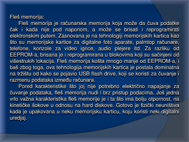 Fleš memorija: