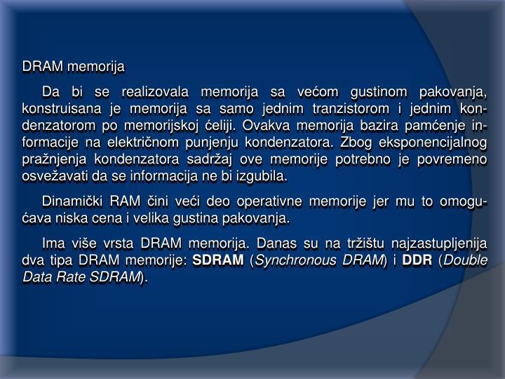 DRAM memorija