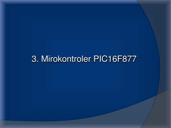 3. Mirokontroler