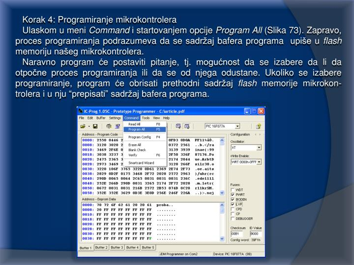 Korak 4: Programiranje mikrokontrolera