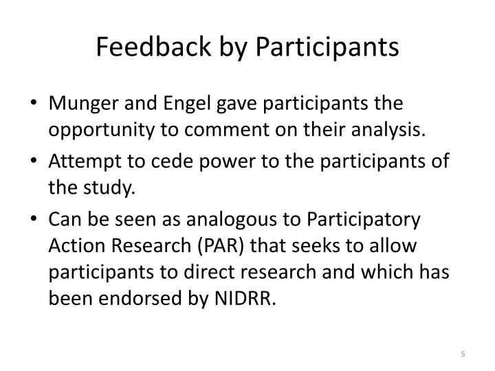 Feedback by Participants