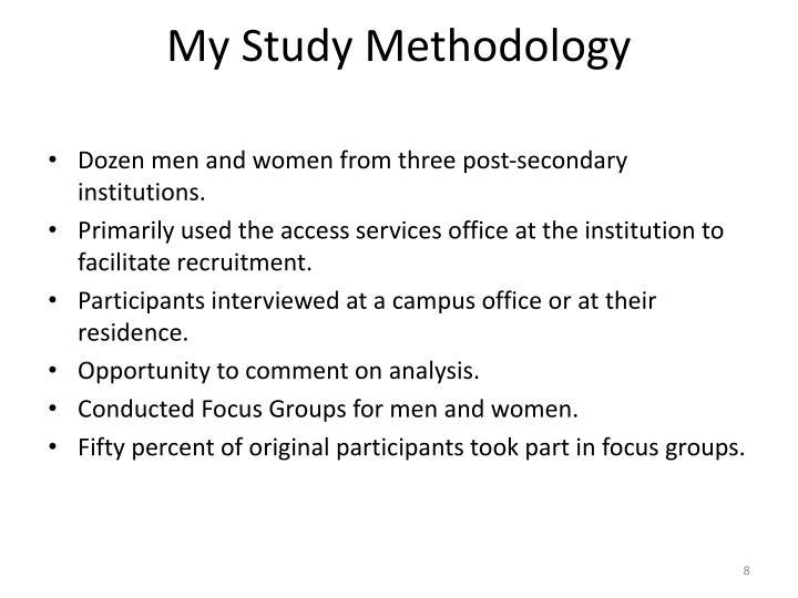 My Study Methodology