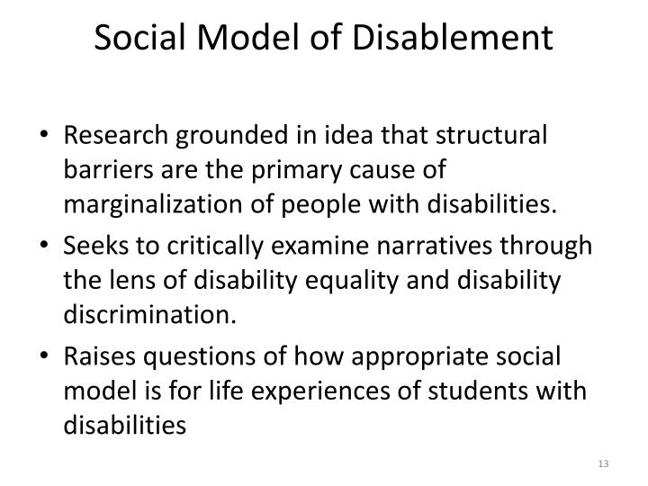 Social Model of Disablement
