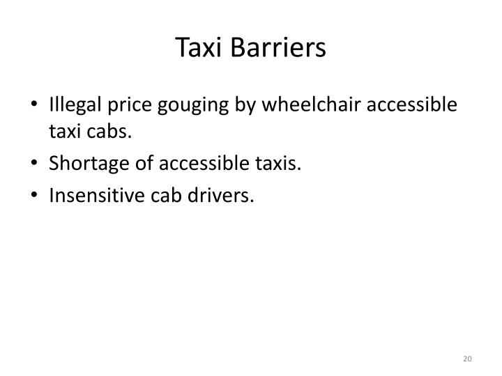 Taxi Barriers