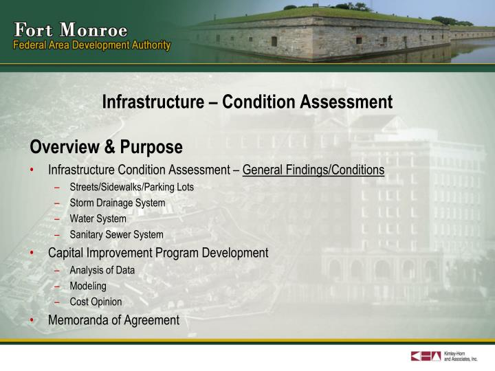 Infrastructure condition assessment