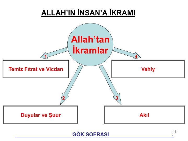 ALLAH'IN İNSAN'A İKRAMI