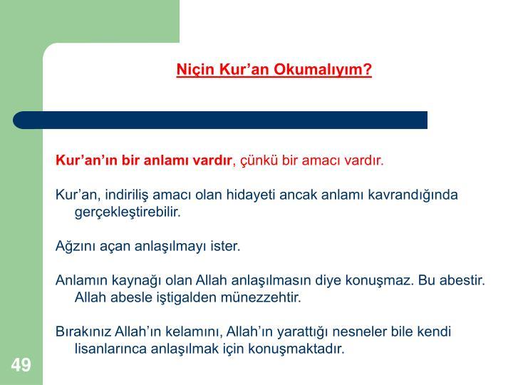 Niçin Kur'an Okumalıyım?