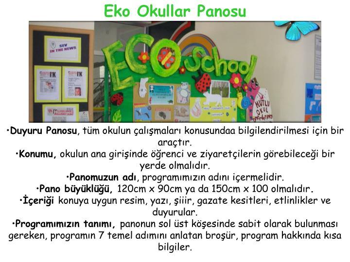 Eko Okullar Panosu
