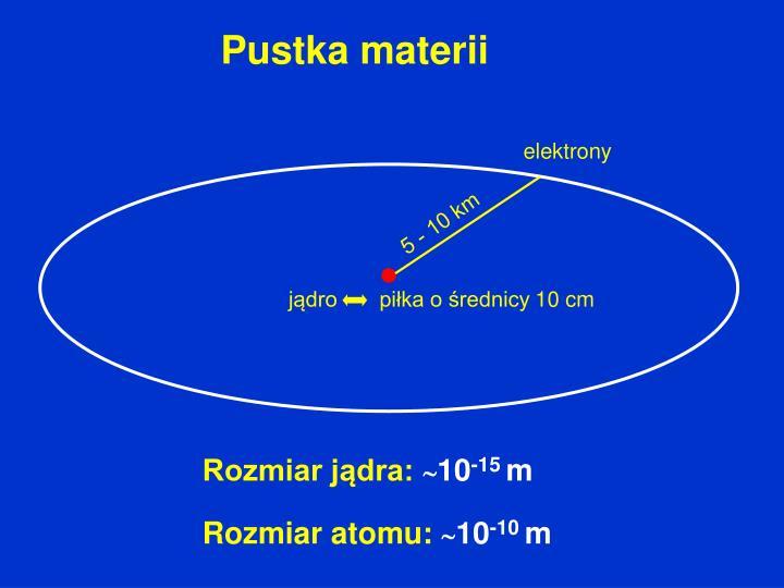 jądro       piłka o średnicy 10 cm