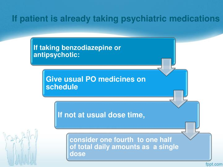 If patient is already taking psychiatric medications