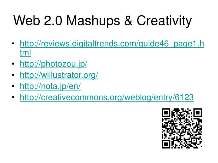 Web 2.0 Mashups & Creativity