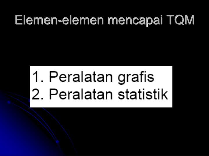Elemen-elemen mencapai TQM