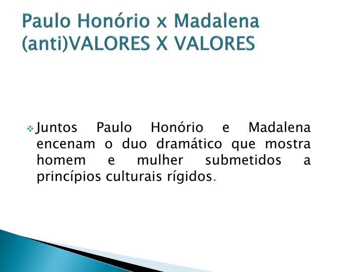 Paulo Honório x Madalena