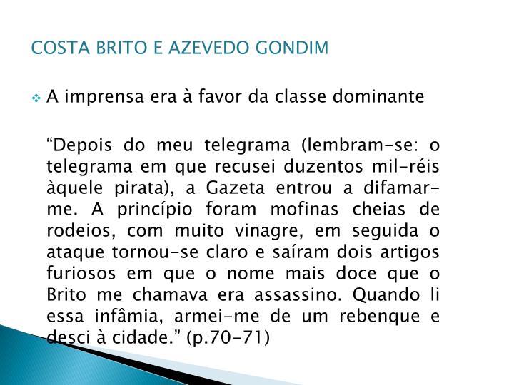 COSTA BRITO E AZEVEDO GONDIM