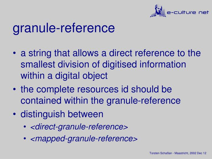 granule-reference