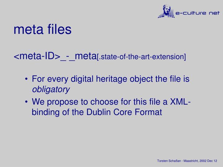meta files