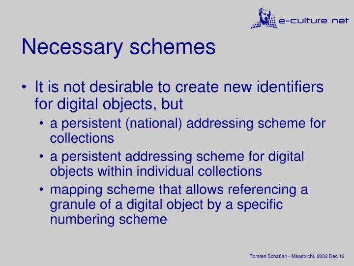Necessary schemes