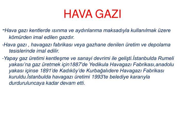 HAVA GAZI