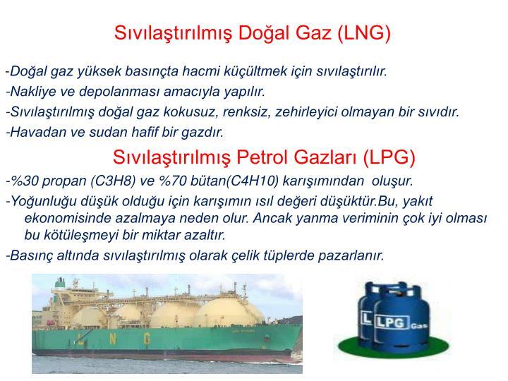 Sıvılaştırılmış Doğal Gaz (LNG)