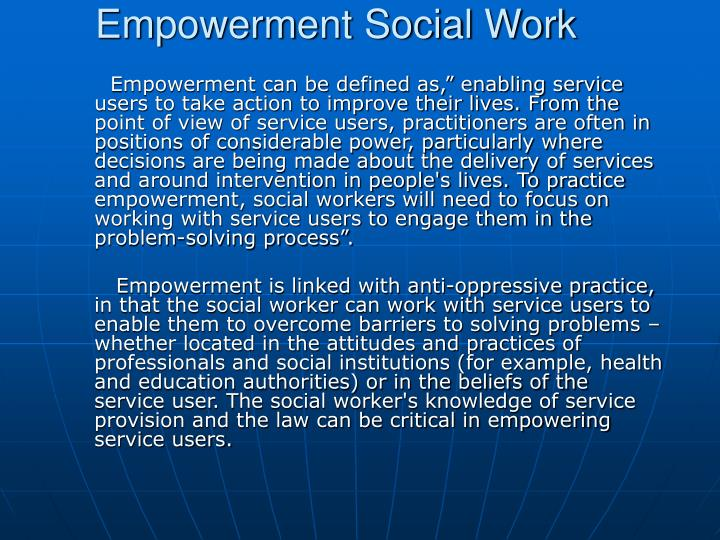 Empowerment Social Work