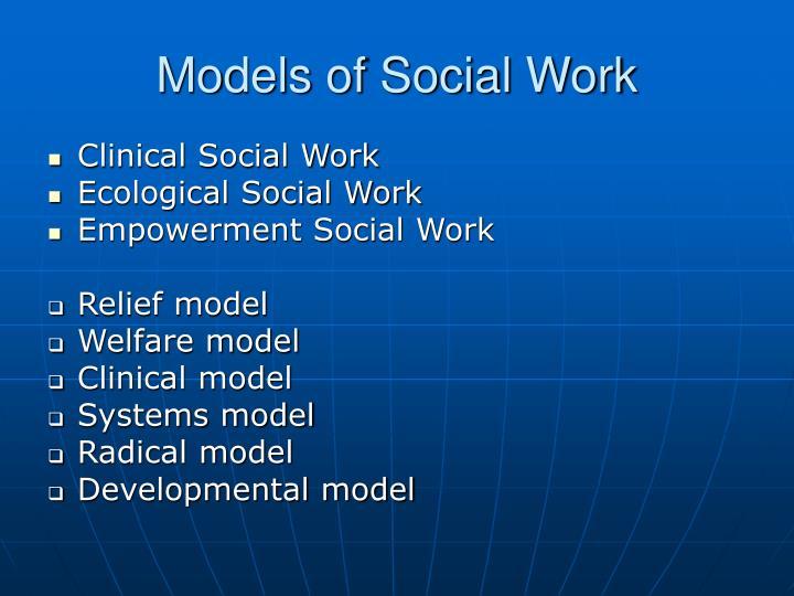 Models of Social Work