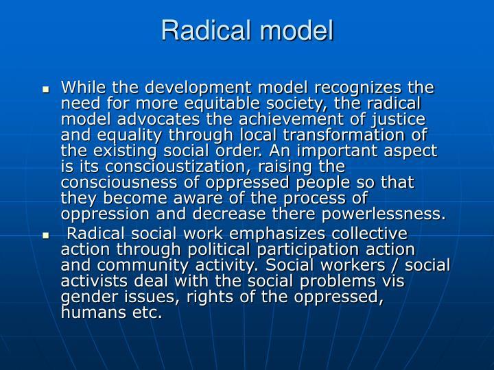Radical model