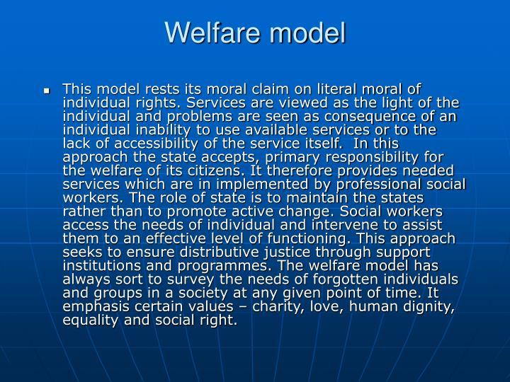 Welfare model