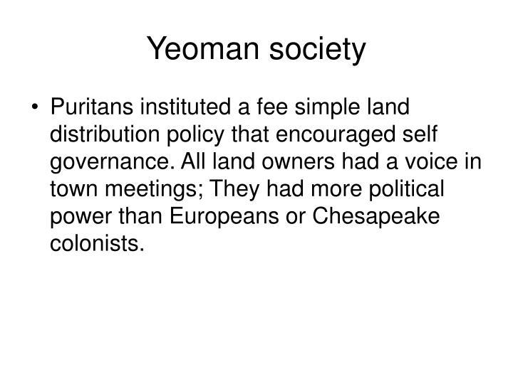 Yeoman society