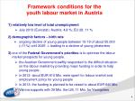 framework conditions for the youth labour market in austria