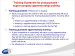 training guarantee for young people supra company apprenticeship training
