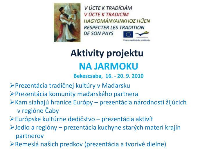 Aktivity projektu