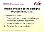 implementation of the bologna process in austria