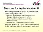 structure for implementation iii